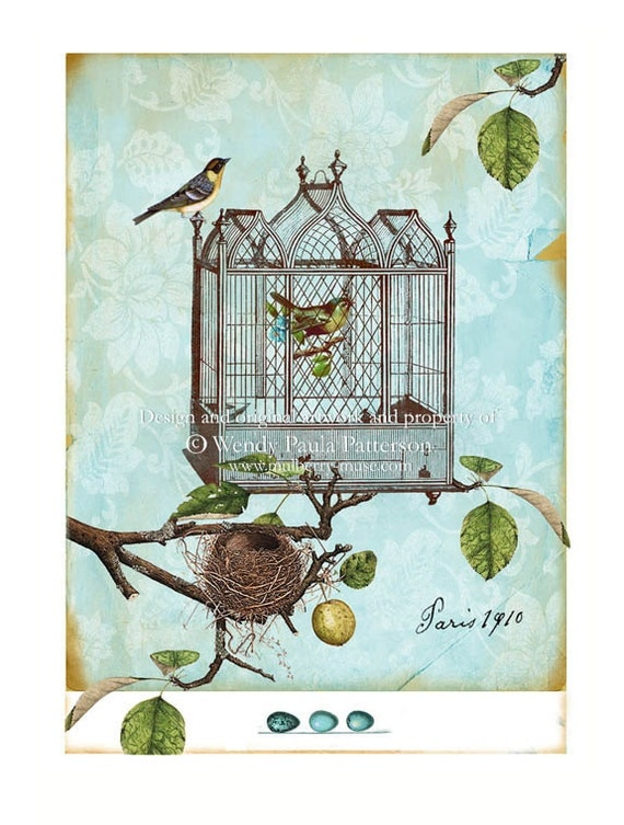 Antique bird cage drawing - photo#55