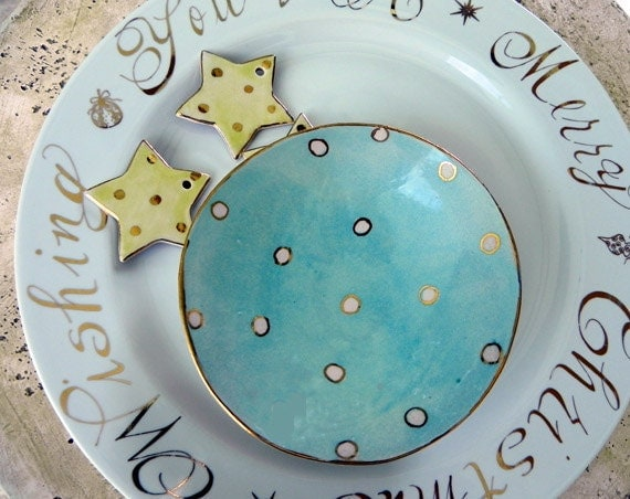 Ice Blue Holiday Dish