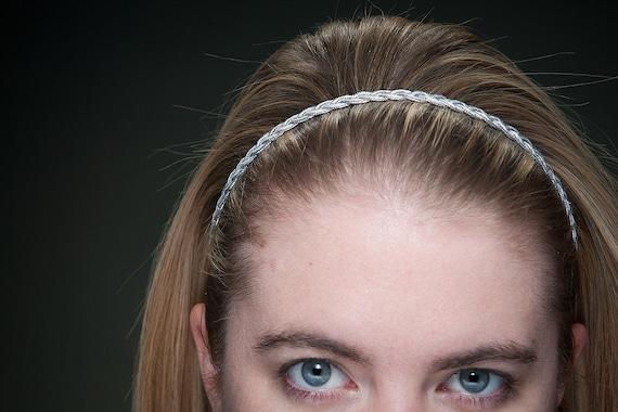 Silver Braid Headband