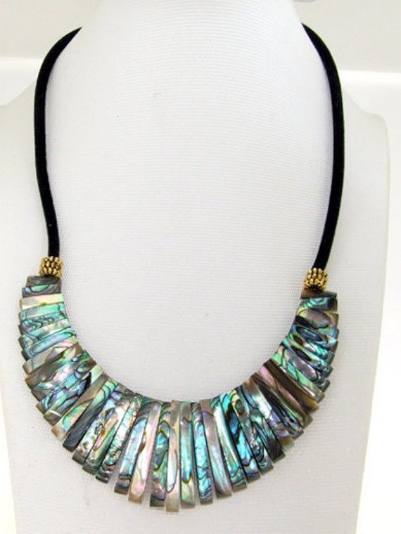 Newest Abalone Shell Mop Necklace 16""