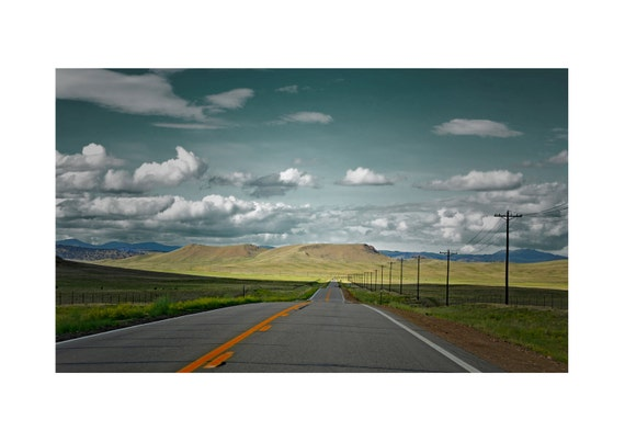 "Modern Photography, Landscape USA, Colorado Highway - Color, 8""x10"" Size (Can also be US Letter Size, custom & matted) Please enquire)"