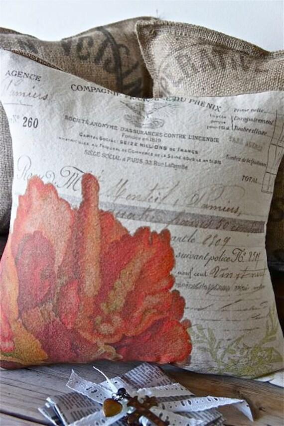 Ручной рукопечатных Чехол - 16x16 - Красный коралл - Delgrange