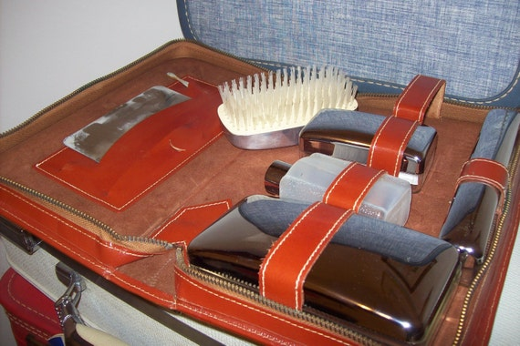 Men's Vintage Travel Kit In Leather Case