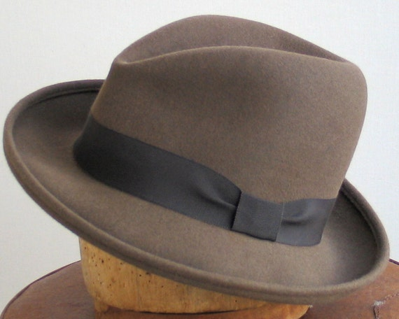 Mens Felt Fedora Hat- Mad Men- Winter Accessories- Fall Fashion