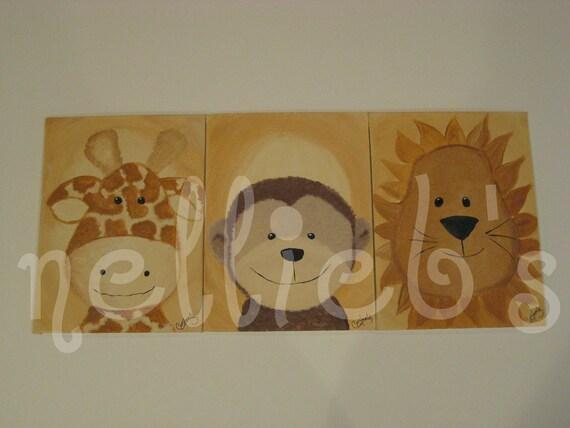 Nursery Jungle Paintings