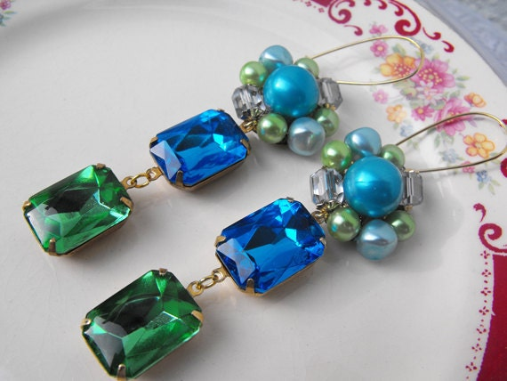 Vintage Repurposed Earrings, Recycled Upcycled Jewelry, Vintage  Jewelry