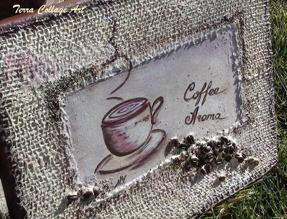 11x14in аромат кофе.  Оригинальные Смешанные Art Media