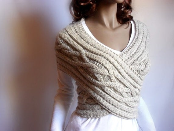 Criss Cross  Cabled Sweater Vest  PDF PATTERN  Design by Pilland