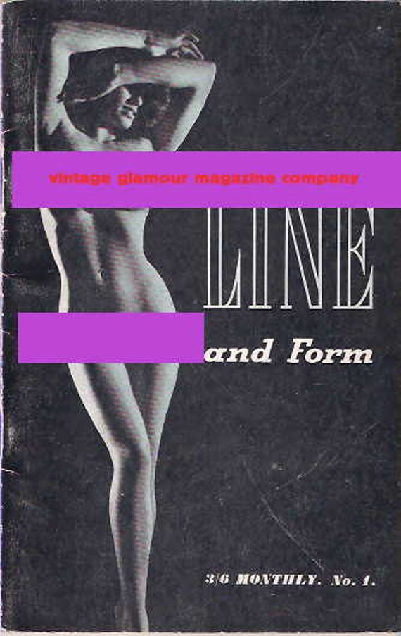 Line and Form Glamour magazine original vintage publication MATURE CONTENT