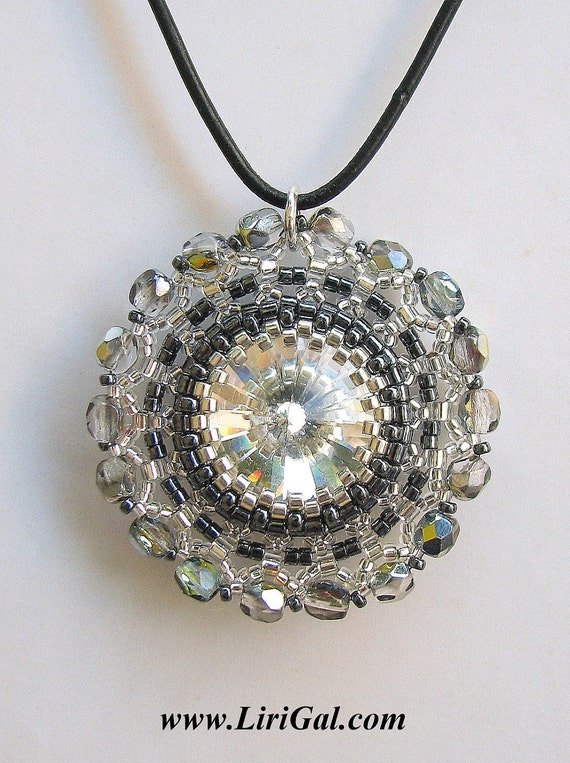 Beaded Swarovski Crystal Rivoli