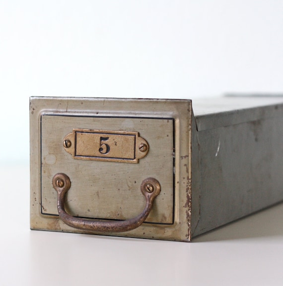 Vintage File Drawer / Safe Deposit Box - Number 5