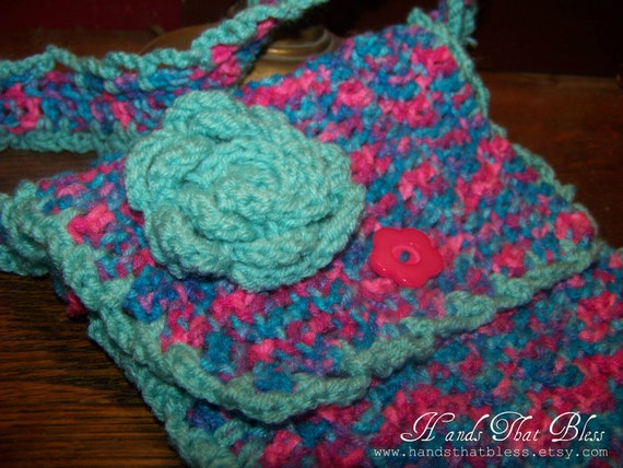 Color Splash Crocheted Purse/Bible Cover