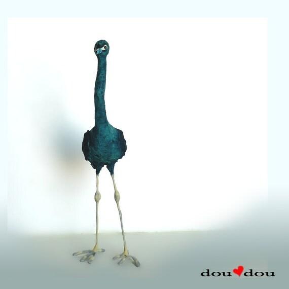 Art Bird Sculpture - Blue Heron