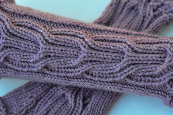 Freya Gauntlets - Light Lavender Grey