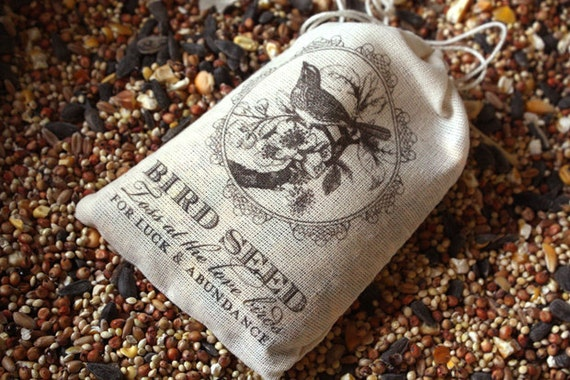 15 Bird Seed Bag Favors