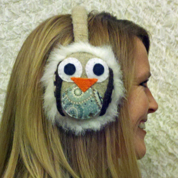 the eleanore- cute & cozy owl ear muffs