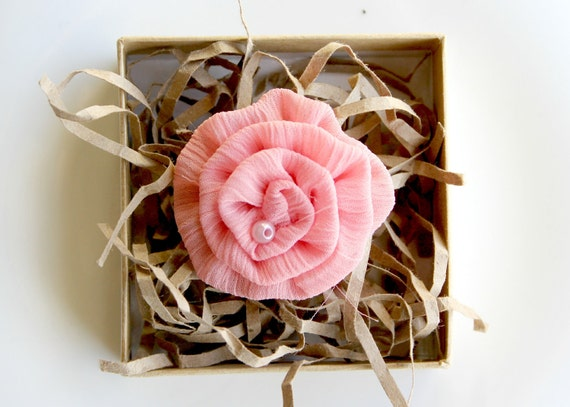 Bella Bloom: Hair Clip, Headband Rosette, Brooch, Scarf Pin