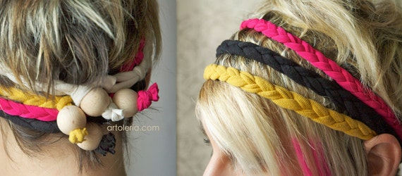 4 braided headband in cotton