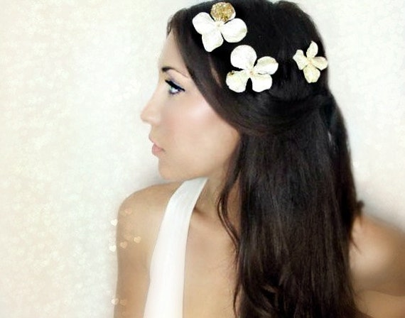 Gold Flower Hair Clips Hair Flower wedding hairbridal hair accessory