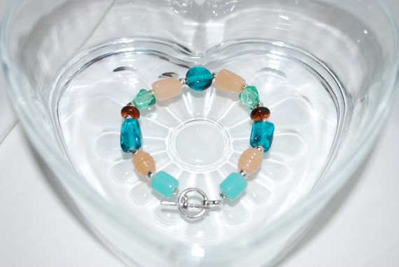 Ocean & Sand Beaded Bracelet-Reserved for a giveaway