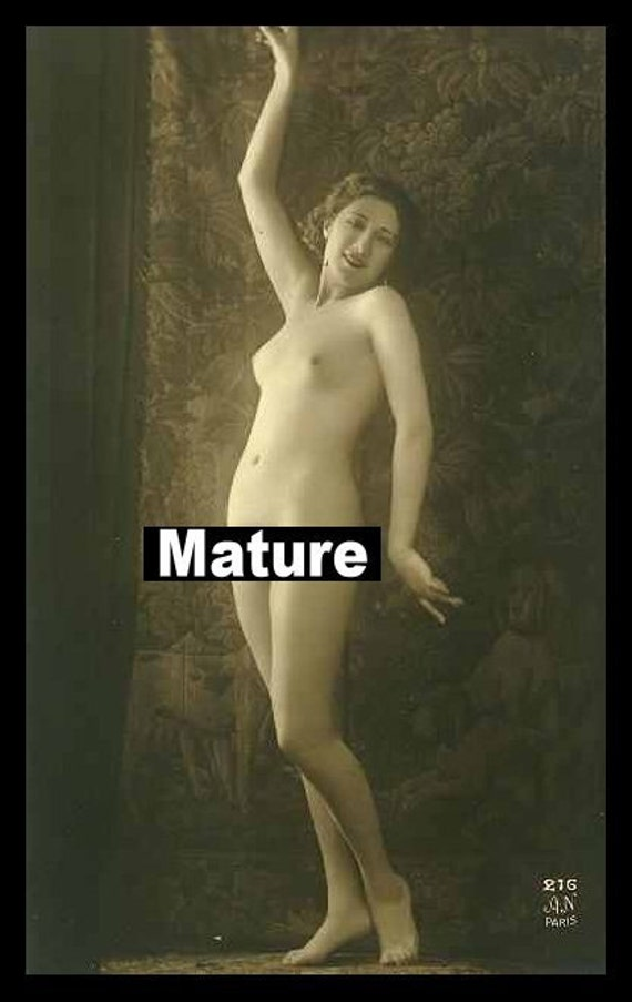 Mature Female Genitalia Victorian Risque Sexy Girl Nude French Photograph ...