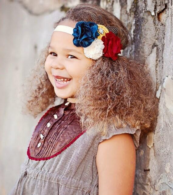 Baby Girls Headband Mustard Yellow Red Teal  Headband
