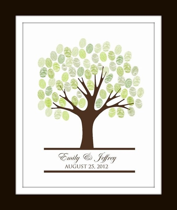 baby shower fingerprint tree etsy image search results