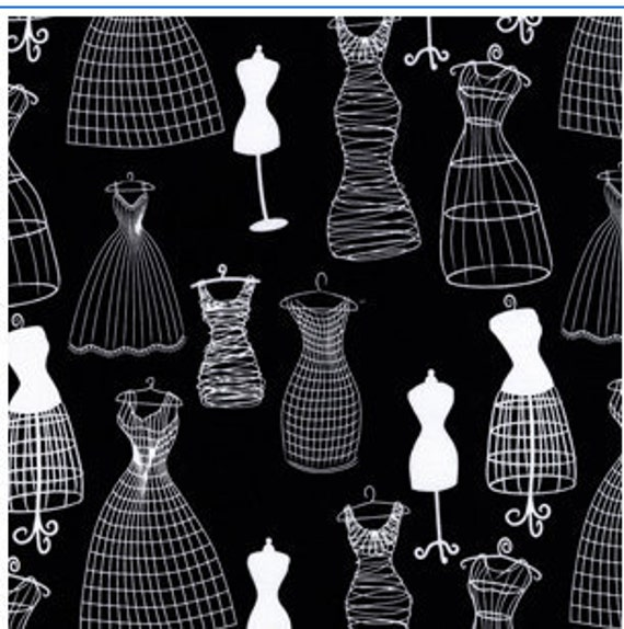 Michael Miller's Black & White Collection Dress Forms