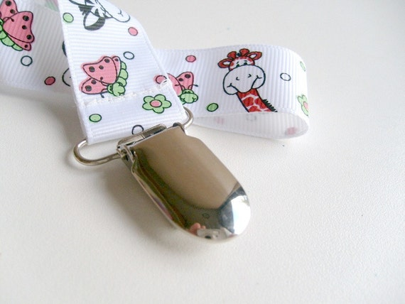 Cute Animals Pacifier Clip or toy clip