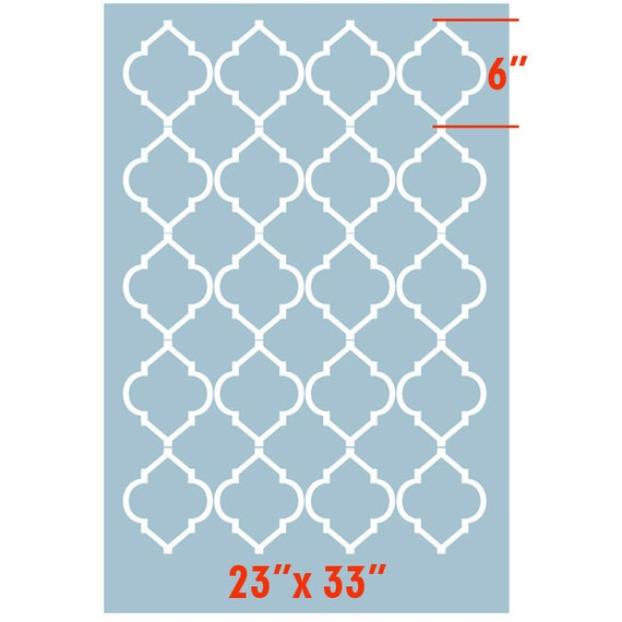 Beautiful Morocco inspired Modern 2 Designer Pattern Stencil for Walls Decor better than Vinyl
