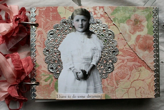 Heartstrings Altered HANDMADE Album OOAK