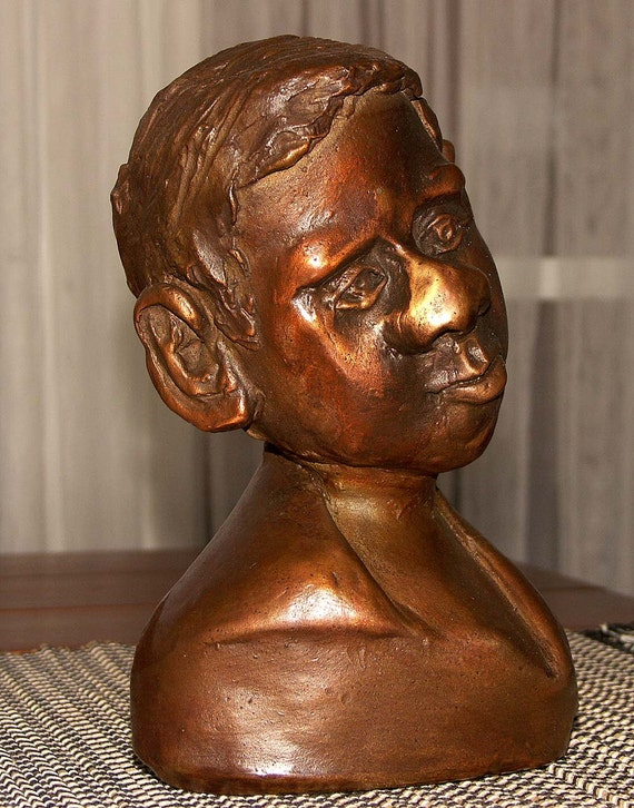 "Bronze sculpture, ""Thinking""  by Lazaroff"