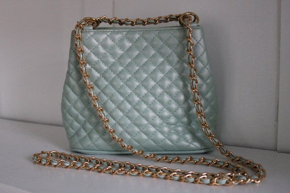 Vintage mint green Lord & Taylor purse