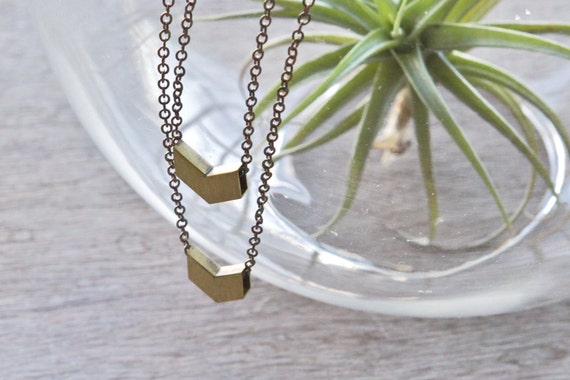 the Dual Mini Chevron necklace