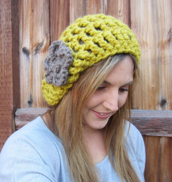 The Tessa Oversized Slouch Hat  with detachable flower - CHOOSE colors, FREE SHIPPING