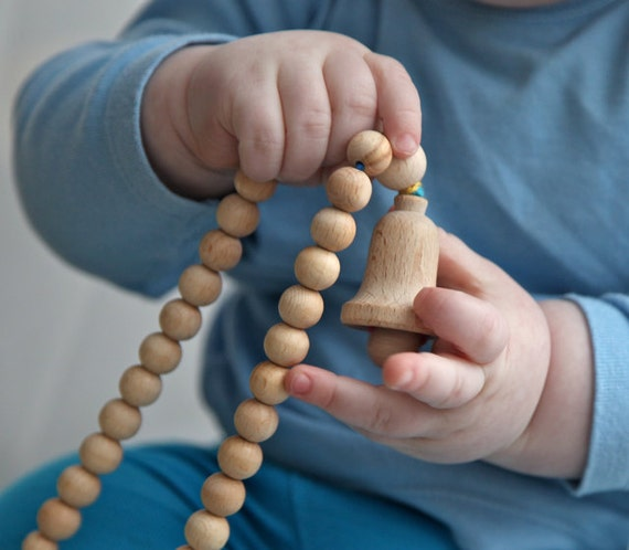 Milk mama nursing necklace,wooden beads  teething toy.
