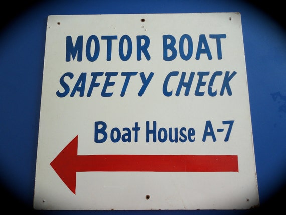 Vintage Sign: Nautical, Boating, Coastal