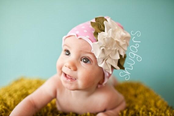 Капли дождя на розы Hat весной HAT шапочка Девочки малыша МЛАДЕНЦЕВ