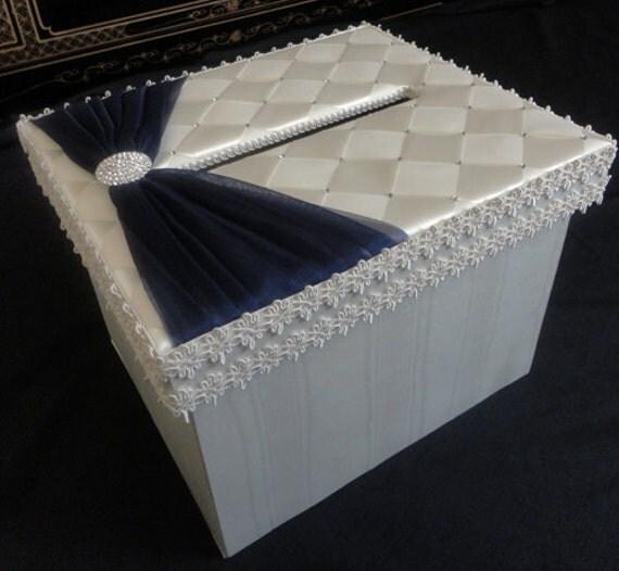 READY TO SHIP Ivory Navy Sash Swarovski Crystals Wedding Accessories Card