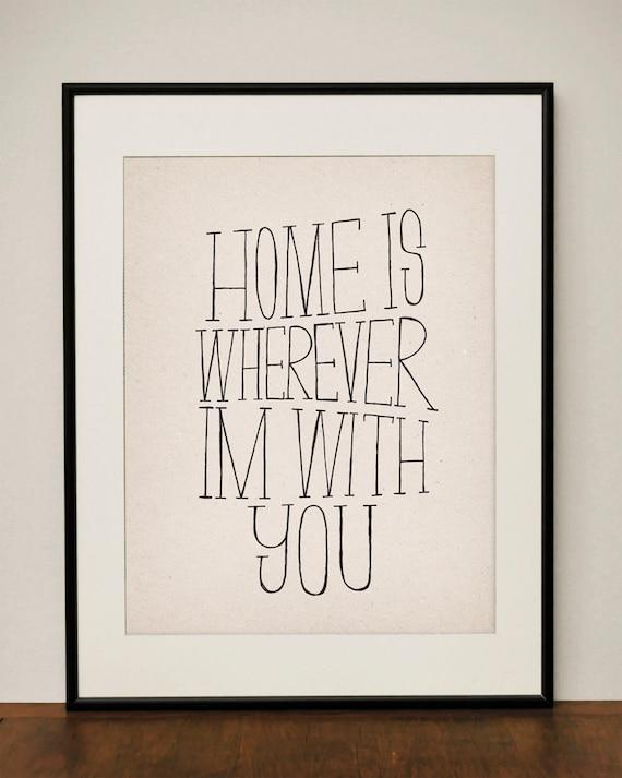 Home 11x14 Art Print