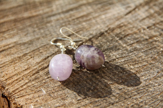 Lovely Natural Amethyst Earrings