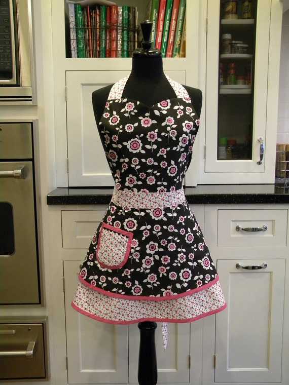 Floral Full Sweetheart Apron