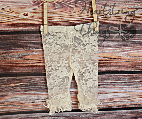 Ruffle Stretch Lace Leggings for Baby or Child many colors available
