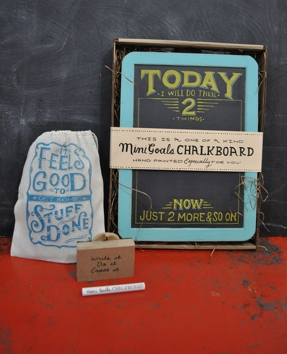 Mini Goals Chalkboard -  Two Things To Do