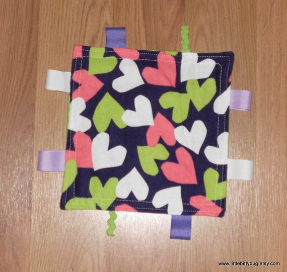 "Tag Blanket ""hearts galore"""