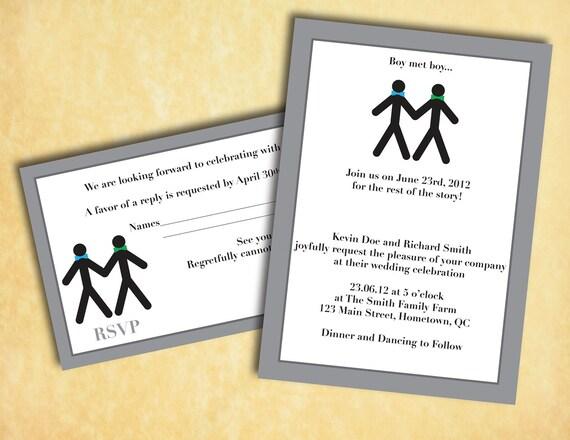 Gay Wedding Invitations: Same Sex Wedding Invitation