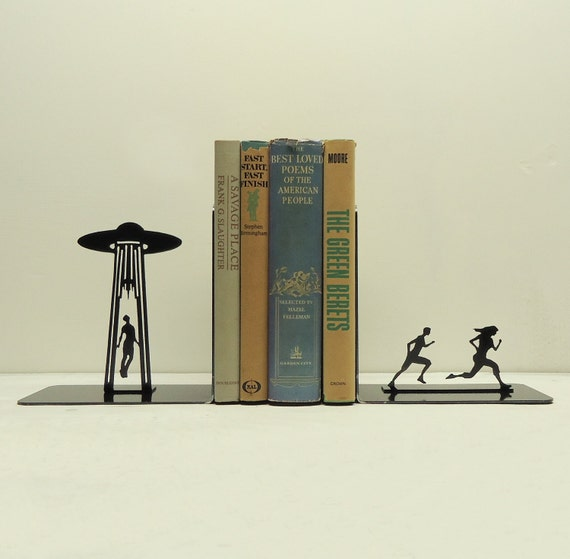 UFO Abduction Bookends - Free USA Shipping