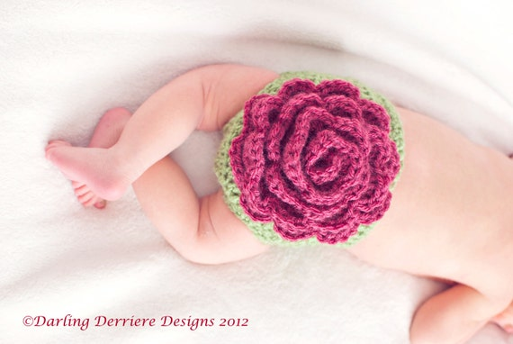 Rose Diaper Cover & Headband Pattern