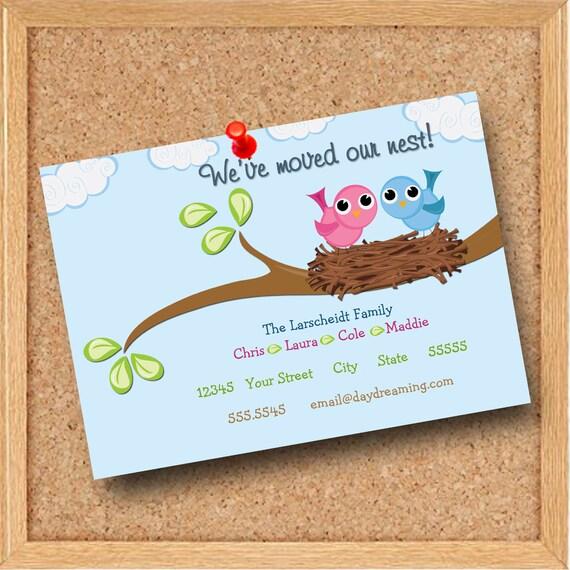 Custom Personalized 5x7 New Address Moving Digital Card