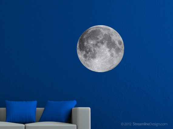 Photo Tex Moon Print - High Resolution Image on Adhesive Fabric